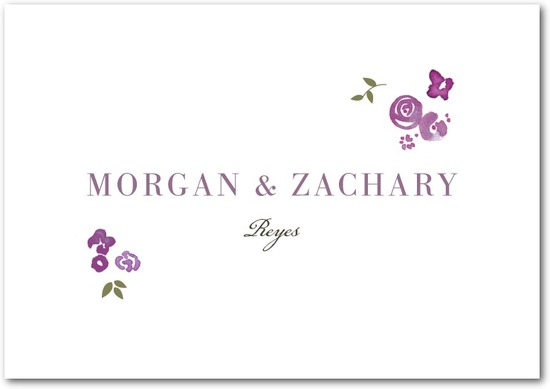 Signature premium thank you cards, Showering Bouquets