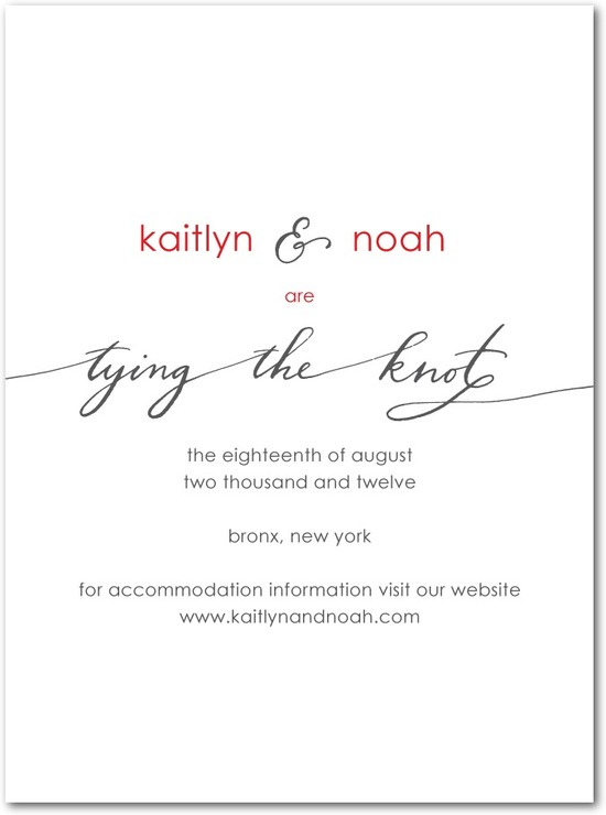 Signature premium save the date cards, Love Always