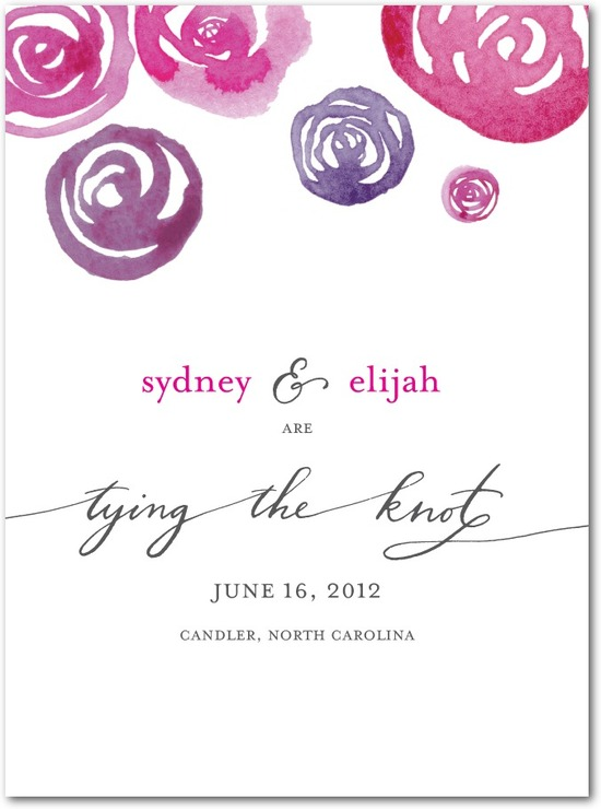 Signature premium save the date cards, Tangle of Love