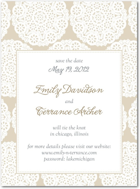 Signature premium save the date cards, Soothing Circles