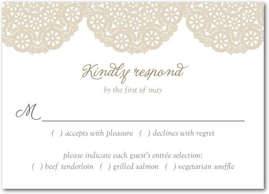 photo of Signature letterpress wedding response cards, Soothing Circles