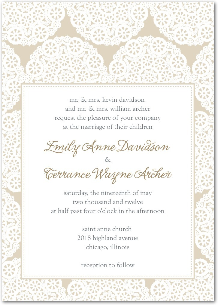 Signature letterpress wedding invitations, Soothing Circles