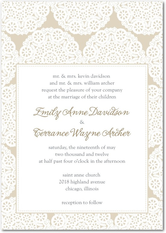 photo of Signature letterpress wedding invitations, Soothing Circles