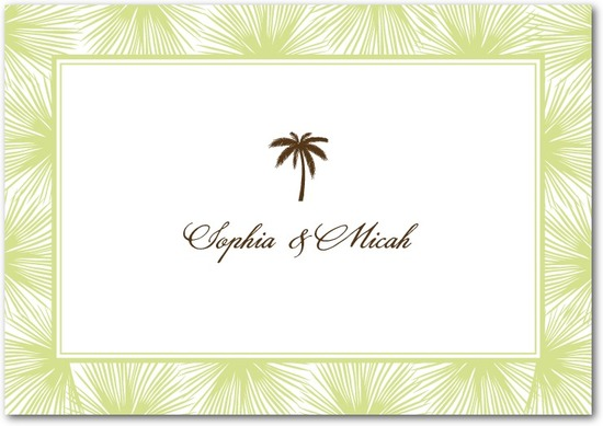 Signature premium thank you cards, Dreamy Palm