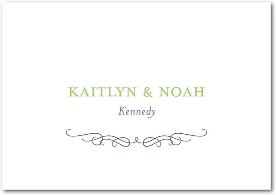 Signature premium thank you cards, Wavy Scroll