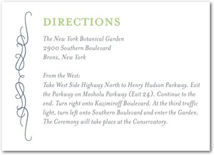 photo of Signature letterpress enclosure cards, Wavy Scroll
