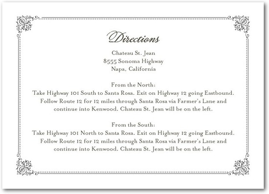 Signature letterpress enclosure cards, Elegant Regal Frame