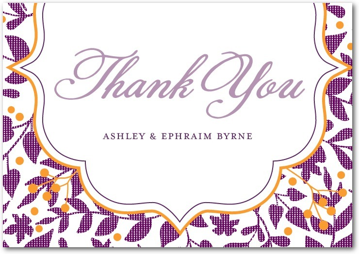 Signature premium thank you cards, Autumn Textile