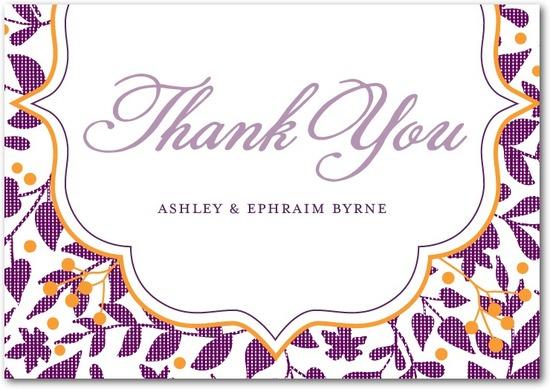 photo of Signature premium thank you cards, Autumn Textile