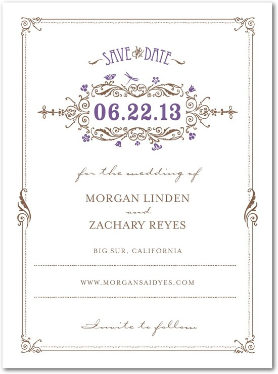 Signature premium save the date cards, Artistic Deco