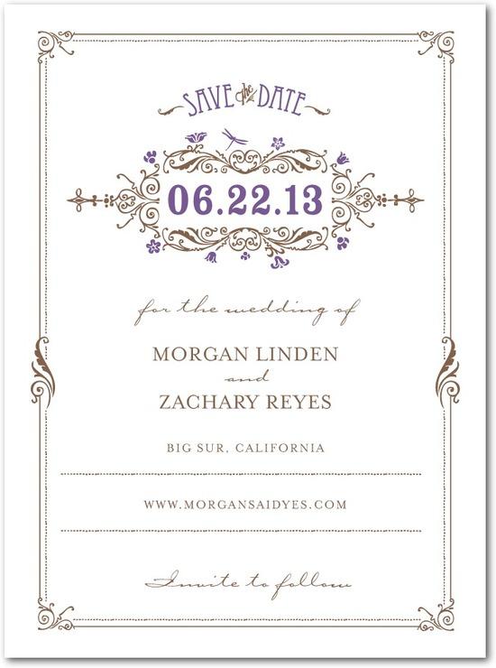 photo of Signature premium save the date cards, Artistic Deco