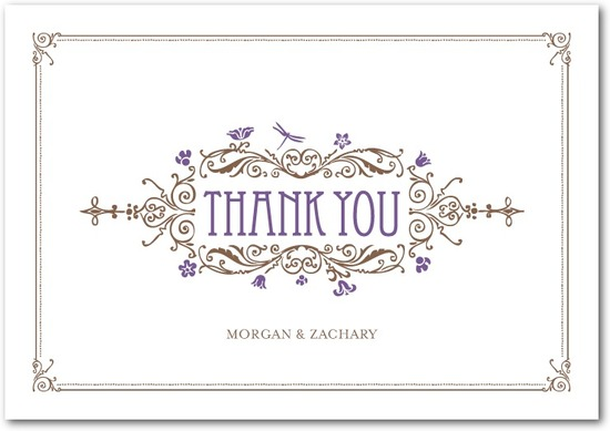 Signature premium thank you cards, Artistic Deco