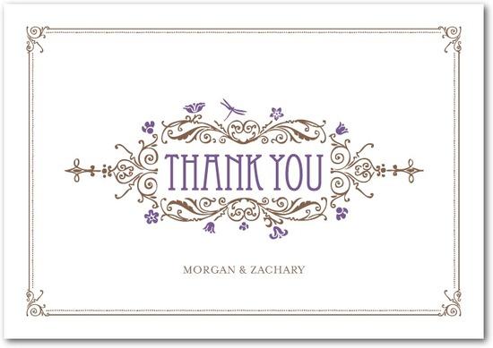 photo of Signature premium thank you cards, Artistic Deco