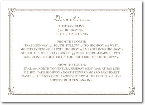 Signature letterpress enclosure cards, Artistic Deco