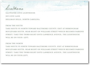 photo of Signature white textured enclosure cards, Serene Seaside