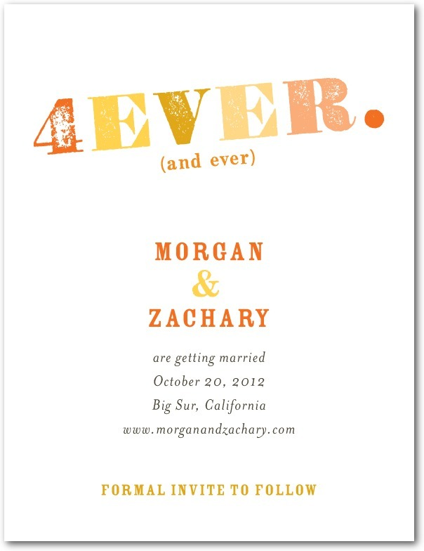 Signature white textured save the date cards, Bold Promise