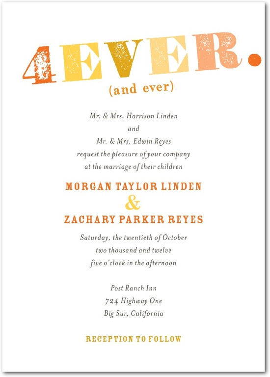 photo of Signature white textured wedding invitations, Bold Promise