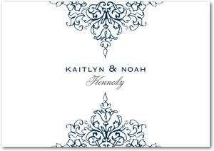 photo of Signature white thank you cards, Opulent Crest