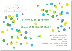 photo of Signature white textured wedding invitations, Bright Palette