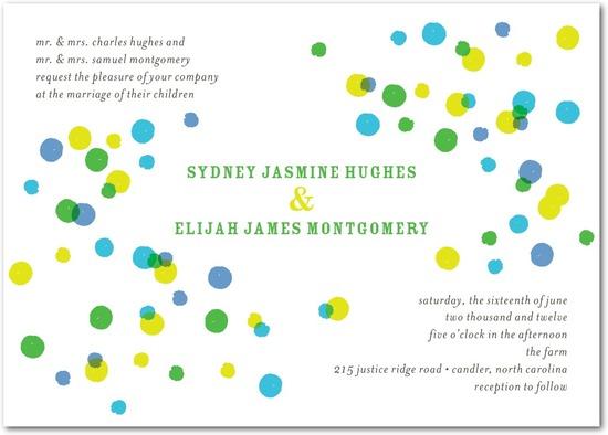 photo of Signature white textured wedding invitations, Bright Palette