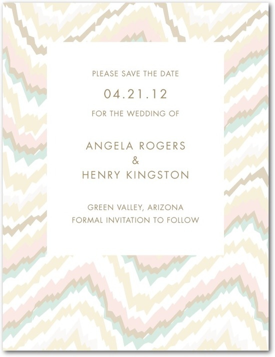 Signature white textured save the date cards, Ikat Abstract