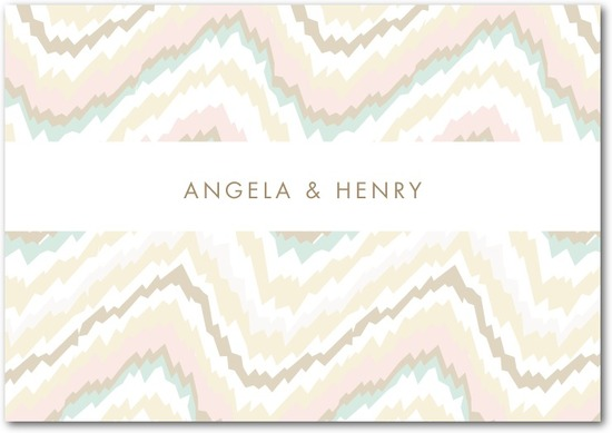 photo of Signature white textured thank you cards, Ikat Abstract