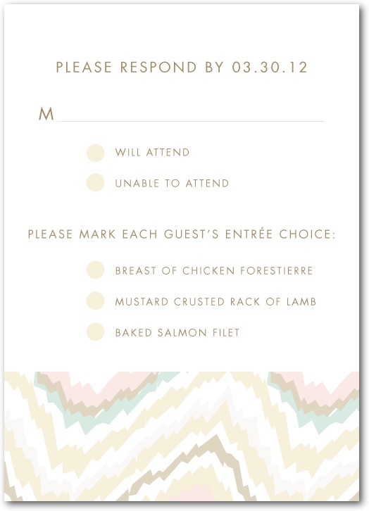 Signature white textured response cards, Ikat Abstract
