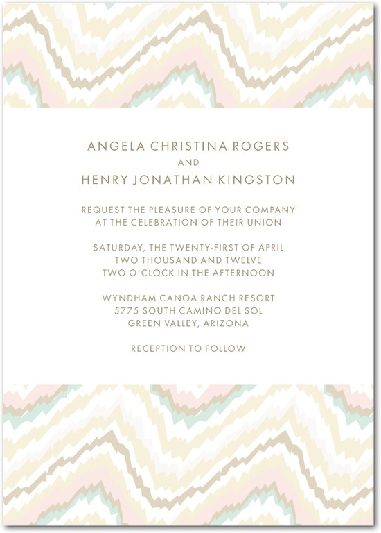 photo of Signature white textured wedding invitations, Ikat Abstract