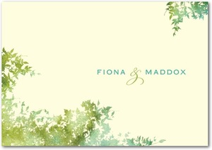 photo of Signature ecru thank you cards, Dappled Glade