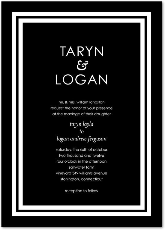 photo of Signature white wedding invitations, Boldly Elegant