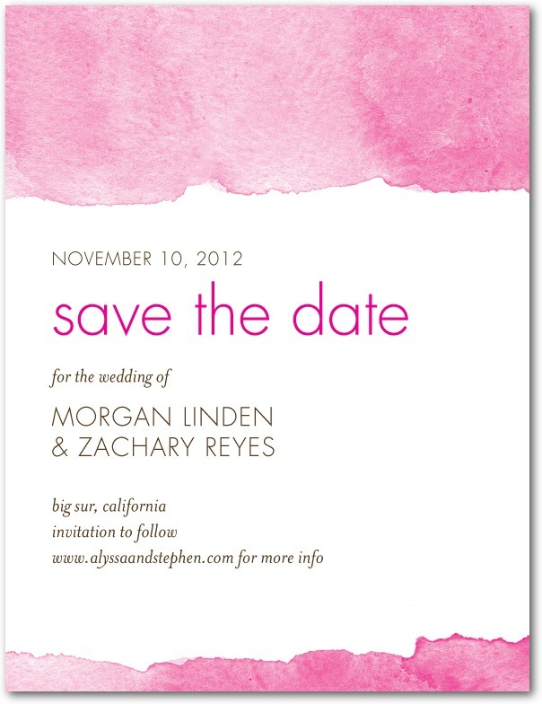 photo of Signature white textured save the date cards, Edge of Forever