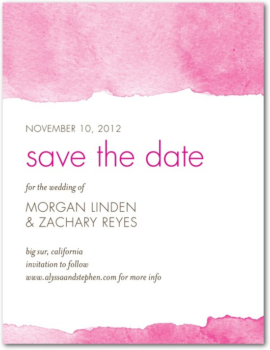 Signature white textured save the date cards, Edge of Forever