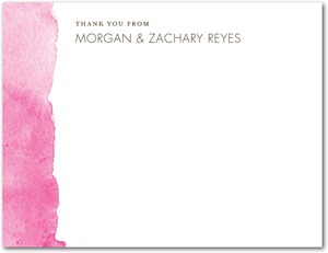 photo of Signature white textured thank you cards, Edge of Forever