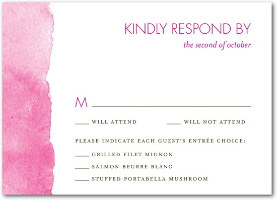 photo of Signature white textured response cards, Edge of Forever