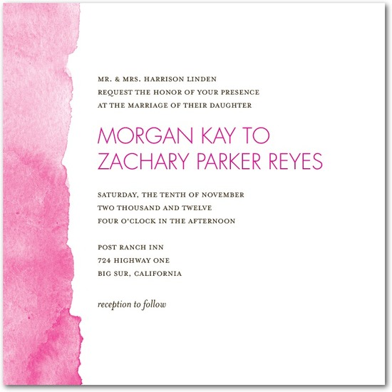 photo of Signature white textured wedding invitations, Edge of Forever