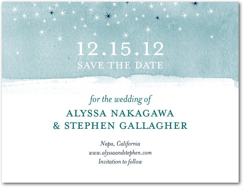 Signature white textured save the date cards, Softly Sparkling