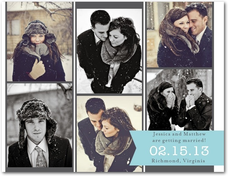 Save the date postcards, Remember Romance