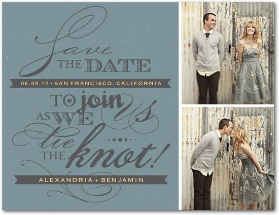 Save the date postcards, Font Fusion