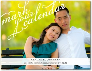 photo of Save the date postcards, Calendar Calligraphy
