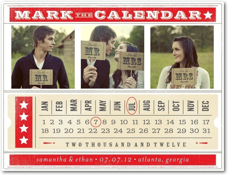 Save the date postcards, Ticket To Love
