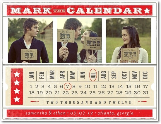 photo of Save the date postcards, Ticket To Love