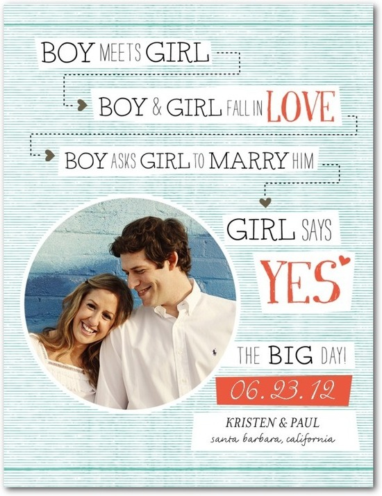 photo of Save the date postcards, Sweet Storyline