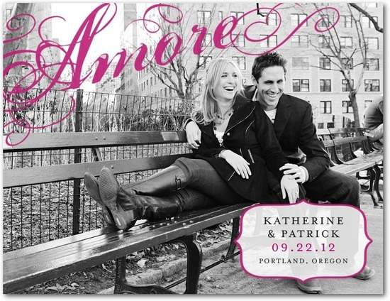 Save the date postcards, Ardent Amore