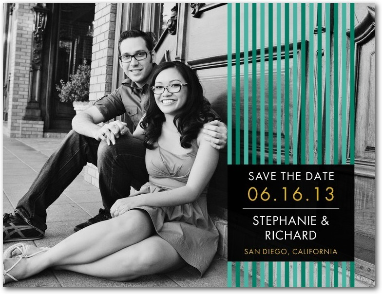 Save the date postcards, Lined Love