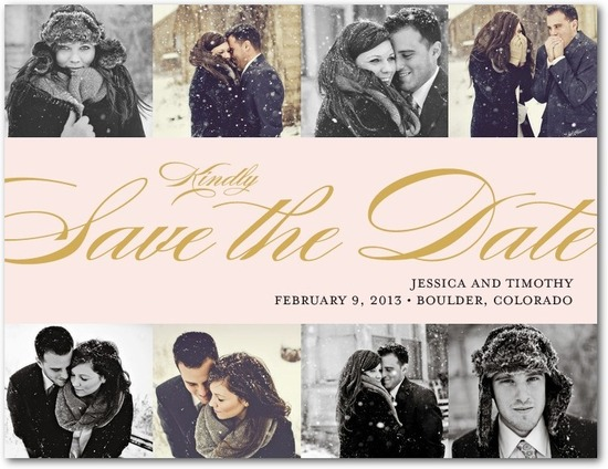 Save the date postcards, Chic Calligraphy