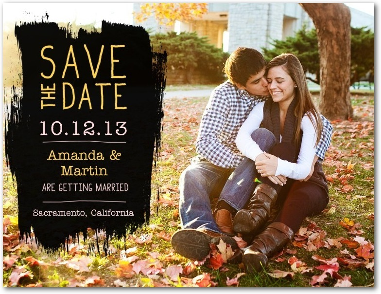 Save the date postcards, Chalkboard Swatch