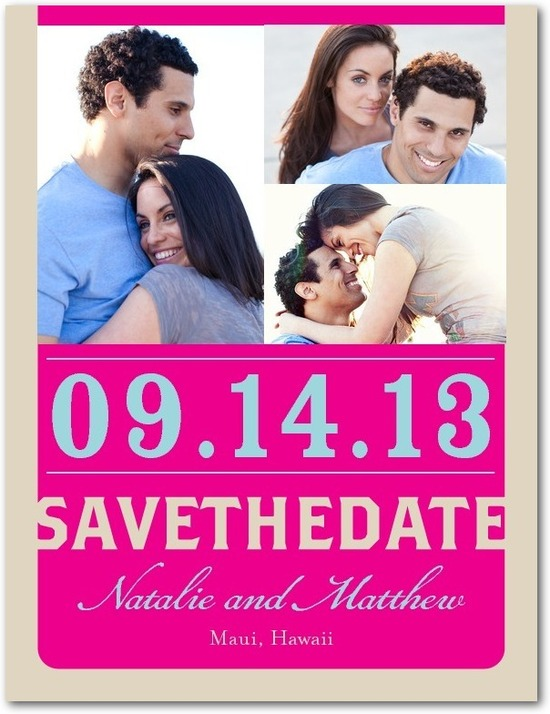 photo of Save the date postcards, Bright Beginnings