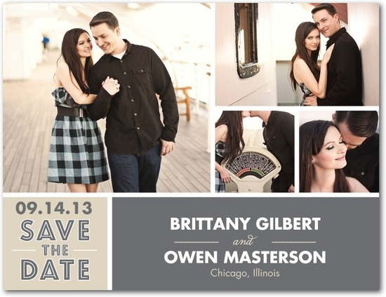 photo of Save the date postcards, Utterly Stylish