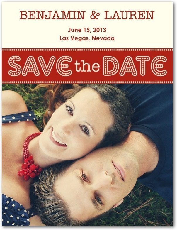 photo of Save the date postcards, Bright Letters