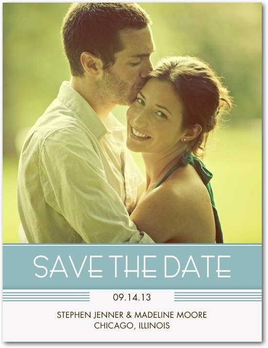photo of Save the date postcards, Deco Marquee
